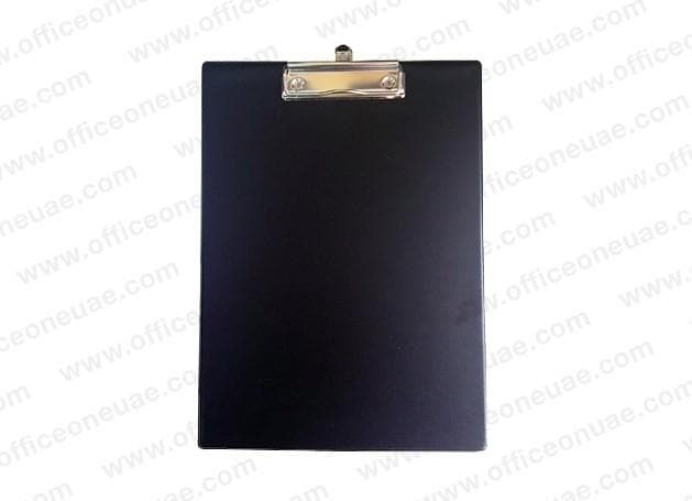 PVC Single Sided Clip Board, Black