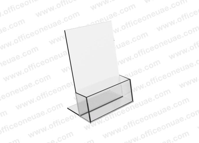 Acrylic Brochure Holder Table Top, 1 Tier, A5 149 x 210 mm