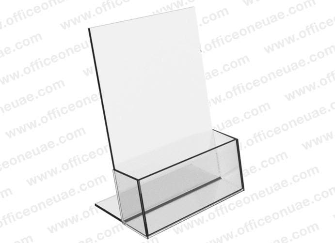 Acrylic Brochure Holder Table Top, 1 Tier, A4 210 x 297 mm