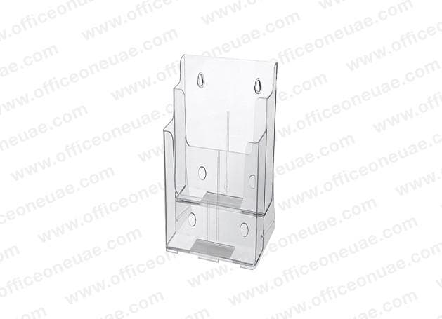 Acrylic Brochure Holder Table/Wall Mount, 2 Tier, DL 100 x 210 mm