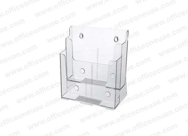 Acrylic Brochure Holder Table/Wall Mount, 2 Tier, A5 149 x 210 mm