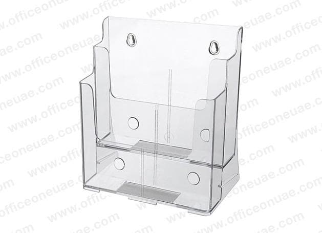 Acrylic Brochure Holder Table/Wall Mount, 2 Tier, A4 210 x 297 mm