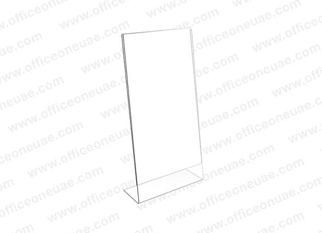 Acrylic Sign Holder L-Type, DL, 100 x 210 mm