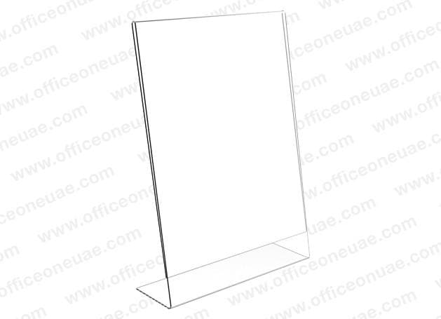 Acrylic Sign Holder L-Type, A4, 210 x 297 mm