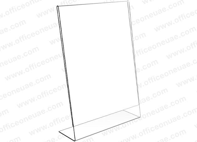 Acrylic Sign Holder L-Type, A3, 297 x 420 mm