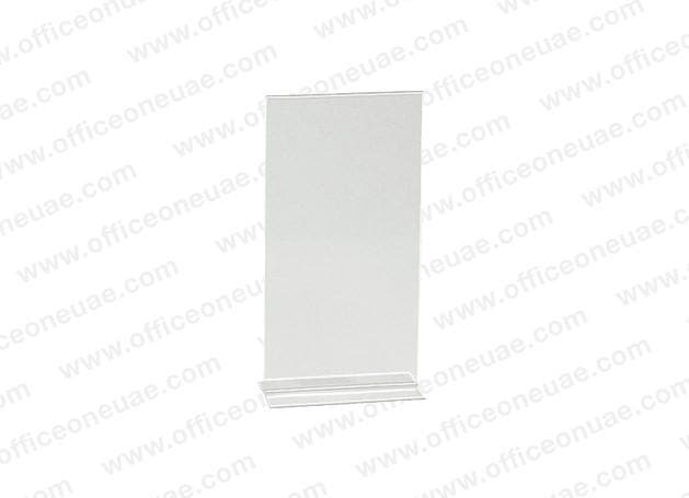 Acrylic Sign Holder 2 Sided T-Type, DL, 100 x 210 mm
