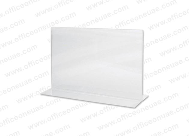 Acrylic Sign Holder 2 Sided T-Type, A5 Landscape, 210 x 149 mm