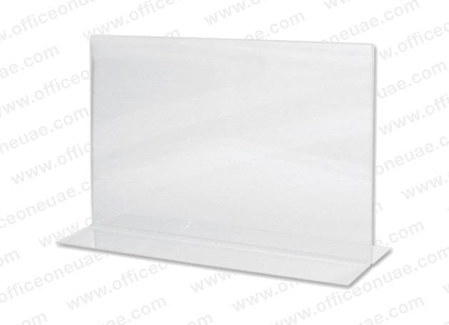Acrylic Sign Holder 2 Sided T-Type, A4 Landscape, 297 x 210 mm