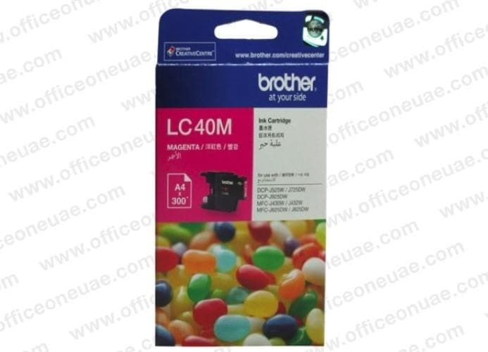 Brother LC40 Magenta Ink Cartridge - LC40M