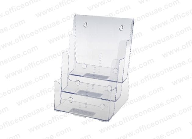 Acrylic Brochure Holder Table/Wall Mount, 3 Tier, A5 149 x 210 mm