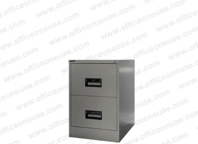 Hadid 2 Drawers Filing Cabinet, Grey