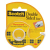 3M Scotch Double Sided Tape 136 with Dispenser, 12.7mm x 6.35m, 1/2inch x 6.3yards