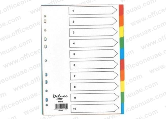 Deluxe Divider Manila Colored A4, 10 Tabs