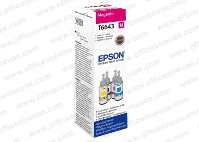 Epson T6643 Magenta Ink Bottle