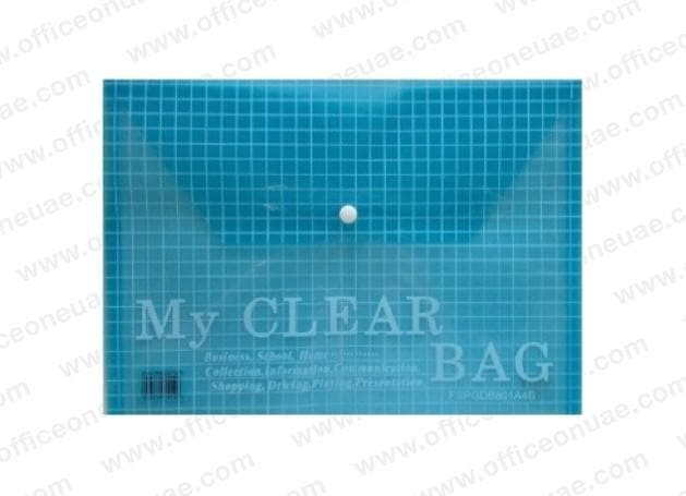 "Deluxe Document Bag ""My Clear Bag"" A4, 12/pack, Blue"