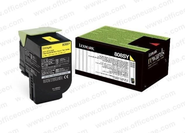 Lexmark 808SY Yellow Toner Cartridge - 80C8SM0