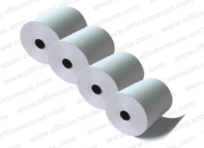 Thermal Cash Roll, 57 x 45 mm x 0.5 inch, 4/pack, White