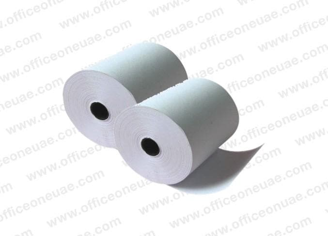 Thermal Cash Roll, 80 x 80 mm x 0.5 inch, 2/pack, White