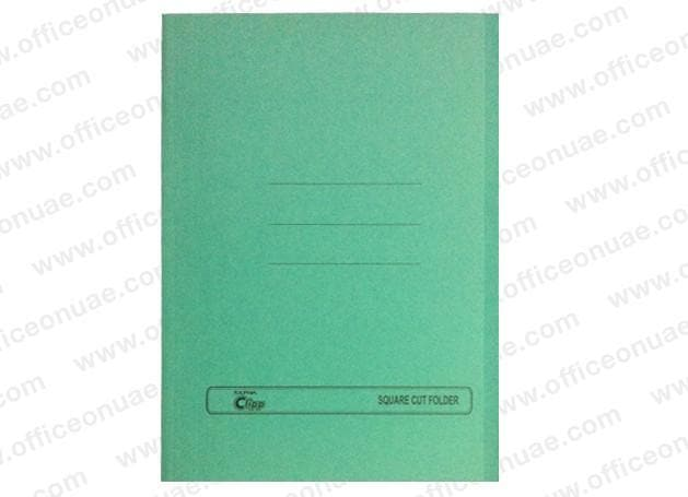 Clipp Square Cut Folder FS, 10/pack, Green