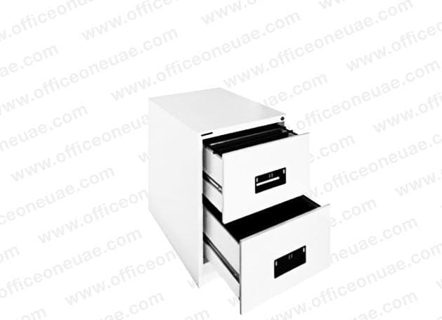 Hadid 2 Drawers Filing Cabinet, White