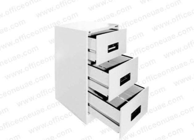 Hadid 3 Drawers Filing Cabinet, White