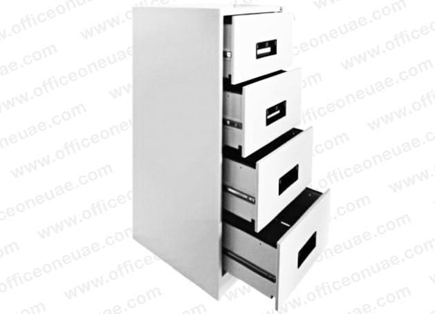 Hadid 4 Drawers Filing Cabinet, White