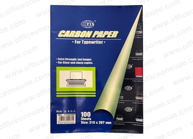 FIS Carbon Paper A4 for Typewriter, 100sheets/pack, Black
