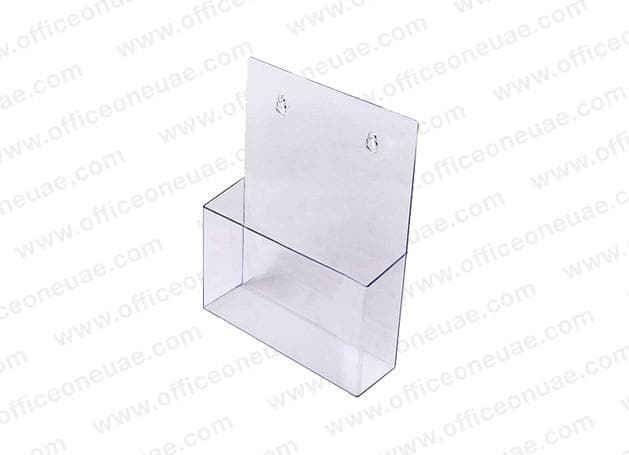 Acrylic Brochure Holder Table/Wall Mount, 1 Tier, A5 149 x 210 mm