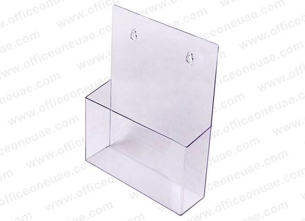 Acrylic Brochure Holder Table/Wall Mount, 1 Tier, A4 210 x 297 mm
