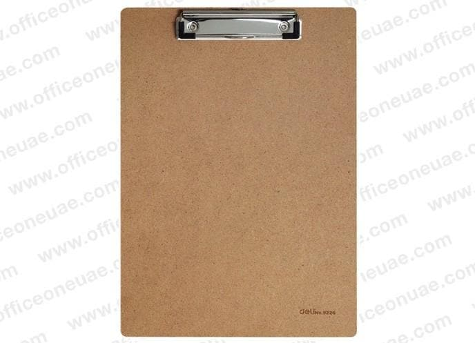 deli MDF Low Profile Clip Board A4