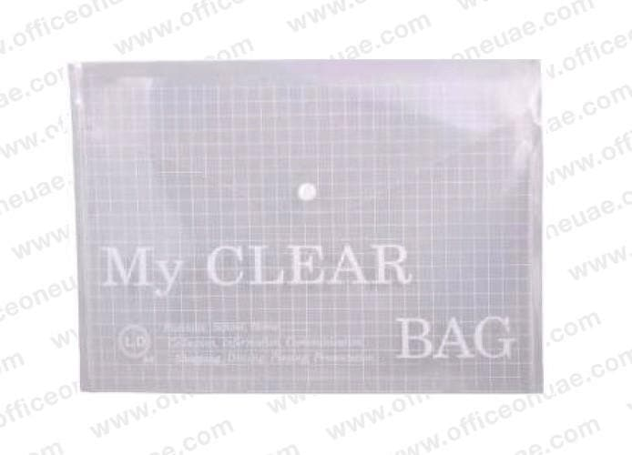 "FIS Document Bag ""My Clear Bag"" A4, 12/pack, Clear"