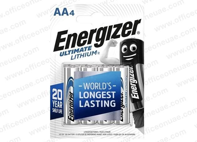 Energizer Ultimate Lithium Battery AA 4/pack