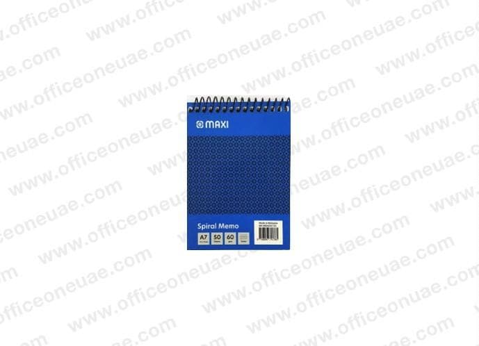 Maxi Spiral Pad A7, top spiral, line ruled, 60gsm, 50sheets/pad