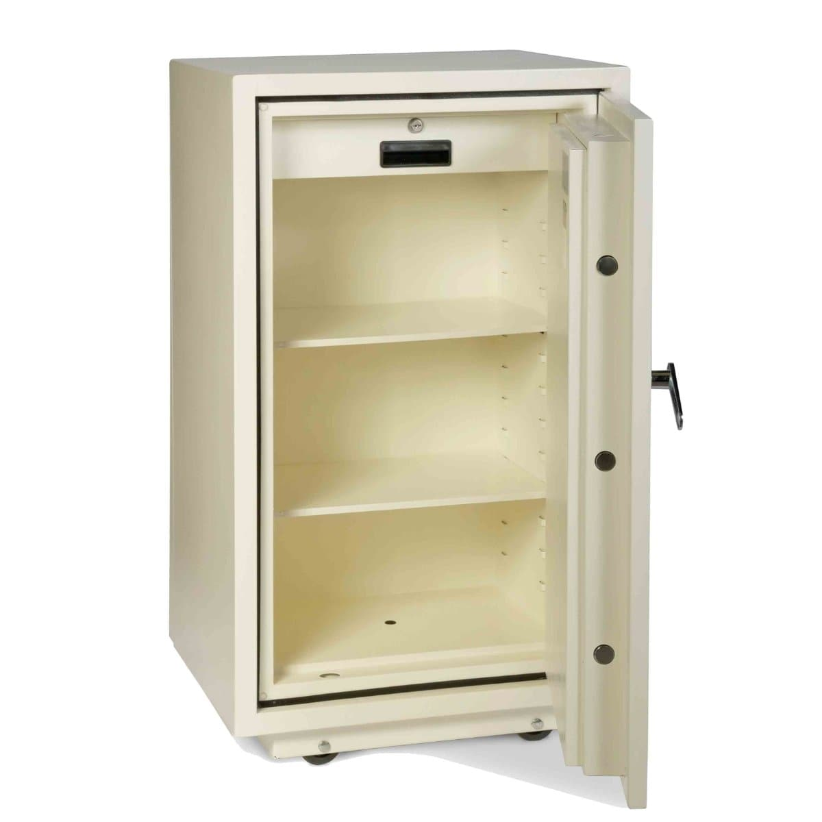 Valberg FRS-93 EL Fire Resistant Safe, Digital & Key Lock, White
