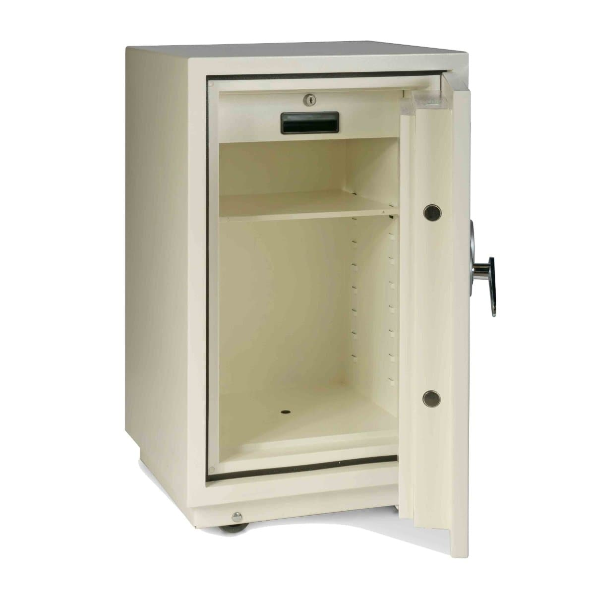 Valberg FRS-75 EL Fire Resistant Safe, Digital & Key Lock, White