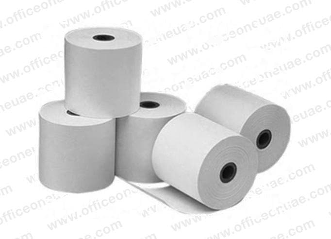 EMIGO Thermal Cash Roll, 57 x 70 mm x 0.5 inch, 5/pack, White