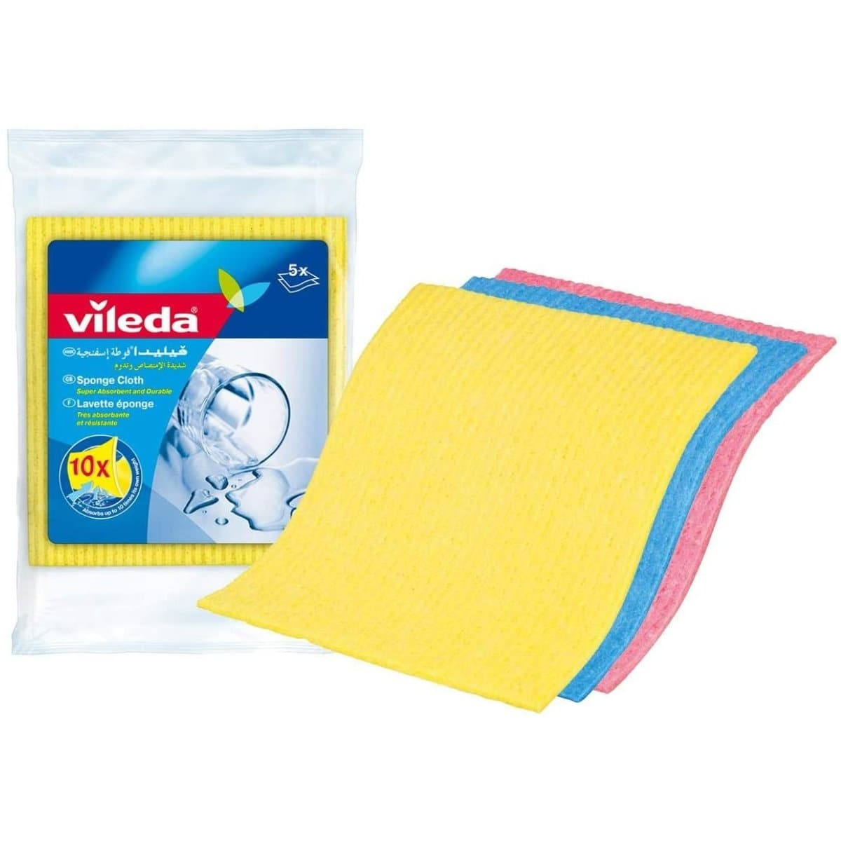 Vileda Sponge Cloth, 5/pack