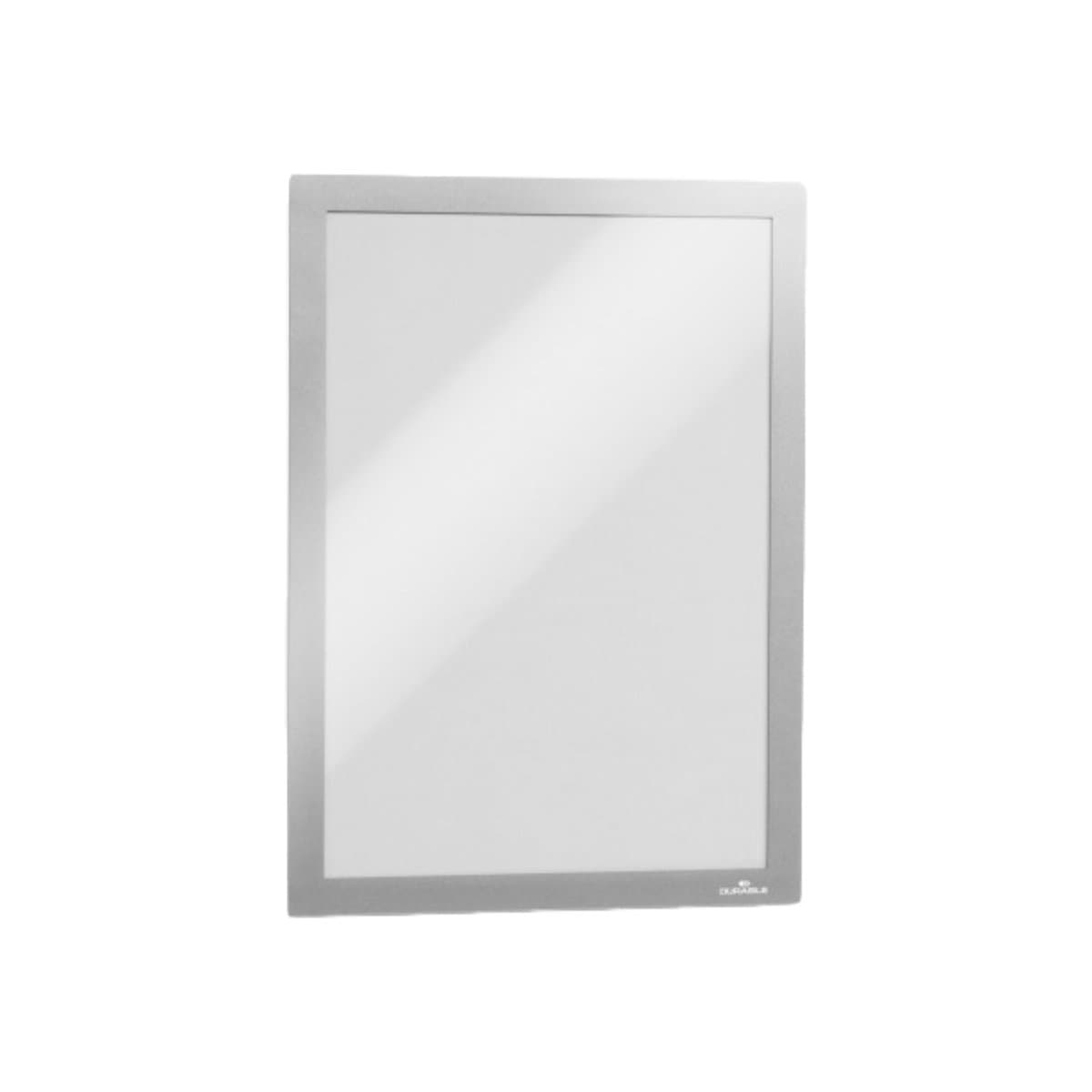 Durable DURAFRAME, Self-Adhesive Magnetic Frame A4, 2/pack, Metallic Silver