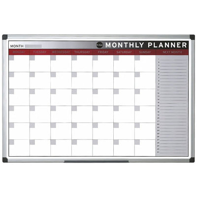 Bi-Office Magnetic Monthly Planner, 60x90cm