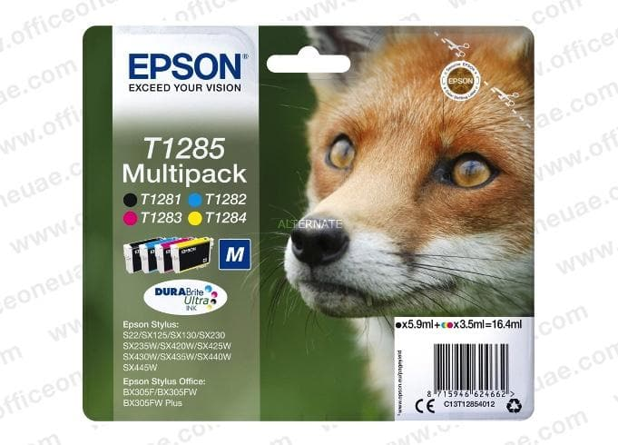 Epson T1285 Multipack Ink Cartridges
