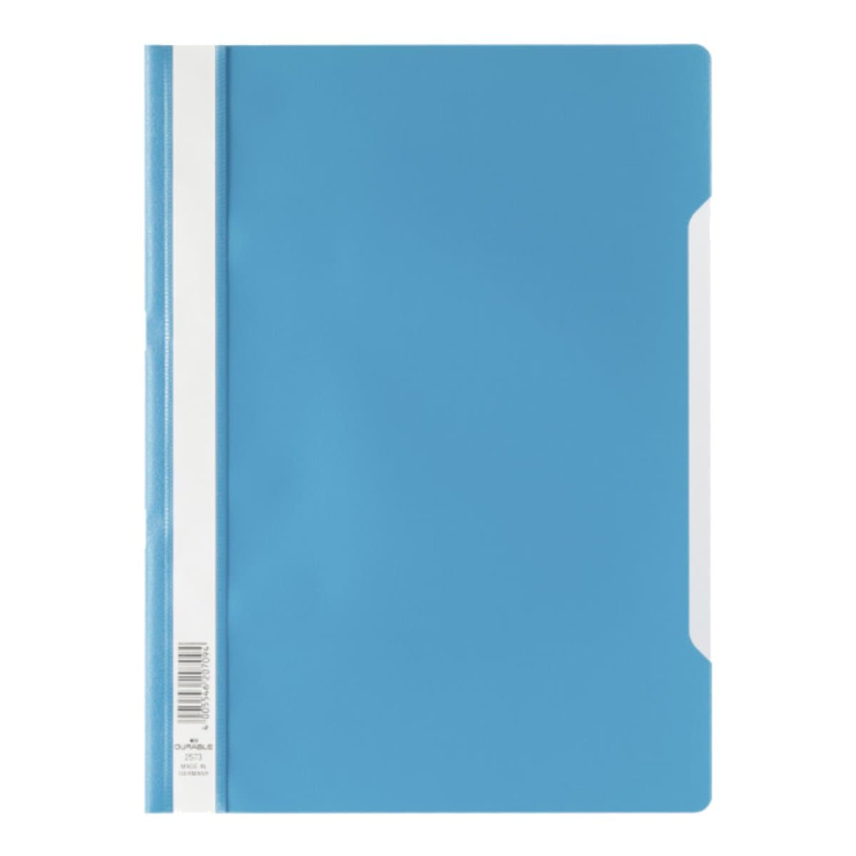 Durable Clear View Folder - Economy A4, Blue
