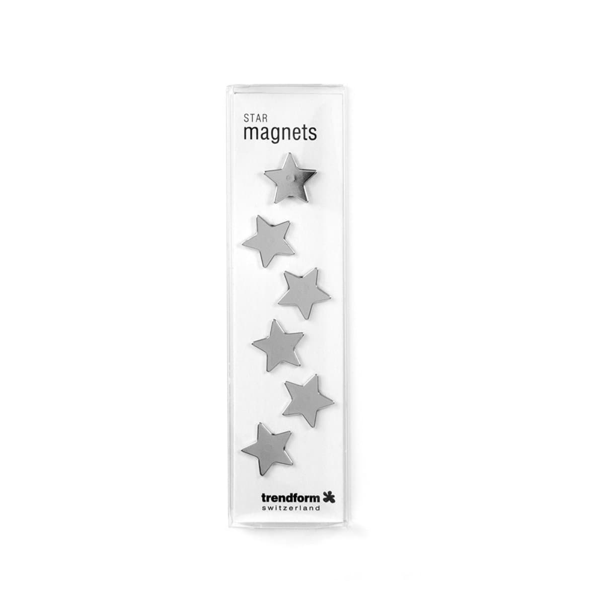 Trendform Magnets STAR, 6/pack, Chrome Plated