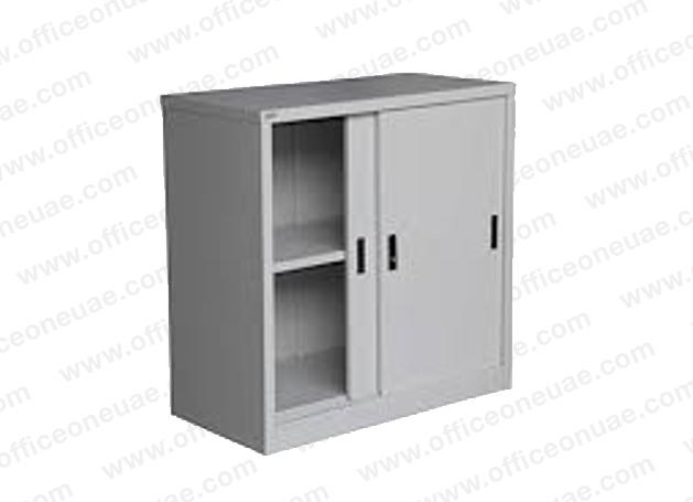 Rexel Filing Cupboard, 94x90.1x44.5 cm, Sliding Door, Grey
