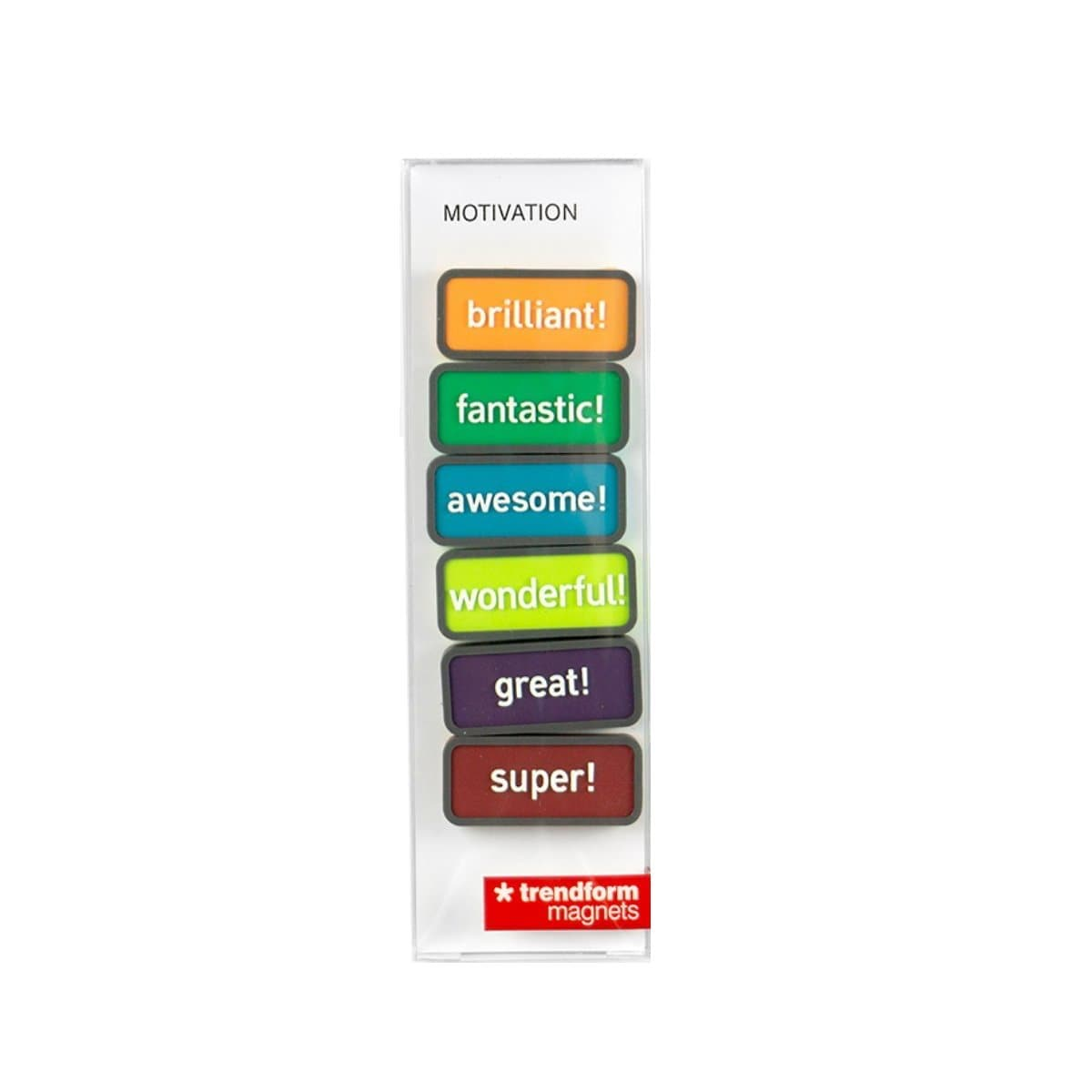 Trendform Magnets MOTIVATION, Set of 6, Assorted Colors