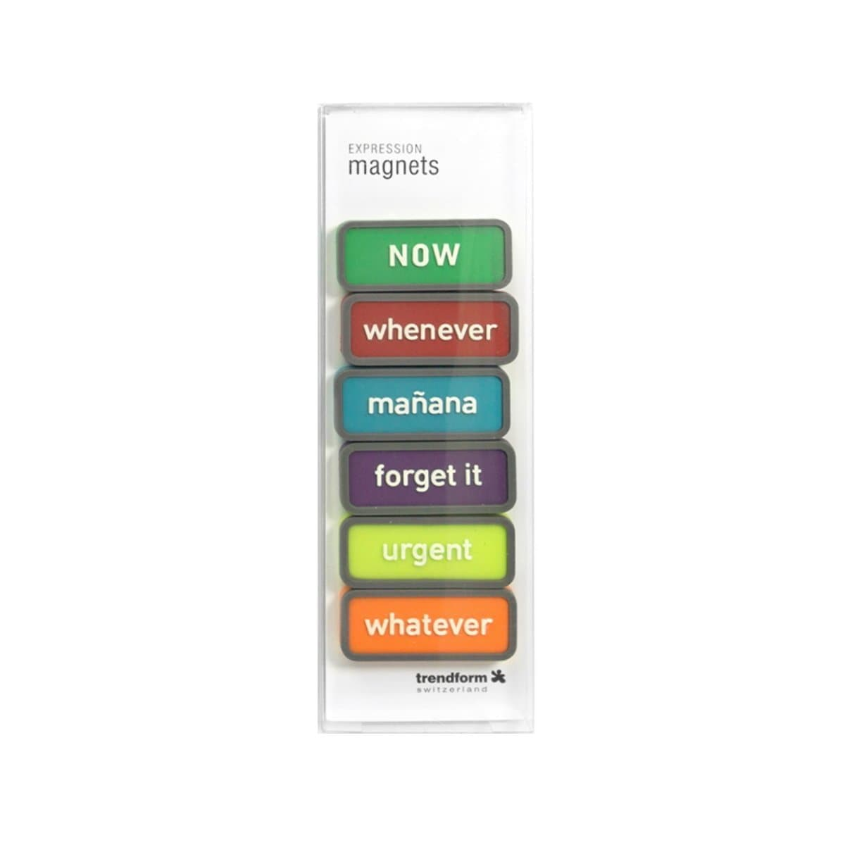 Trendform Magnets TIME PLANNING, Set of 6, Assorted Colors