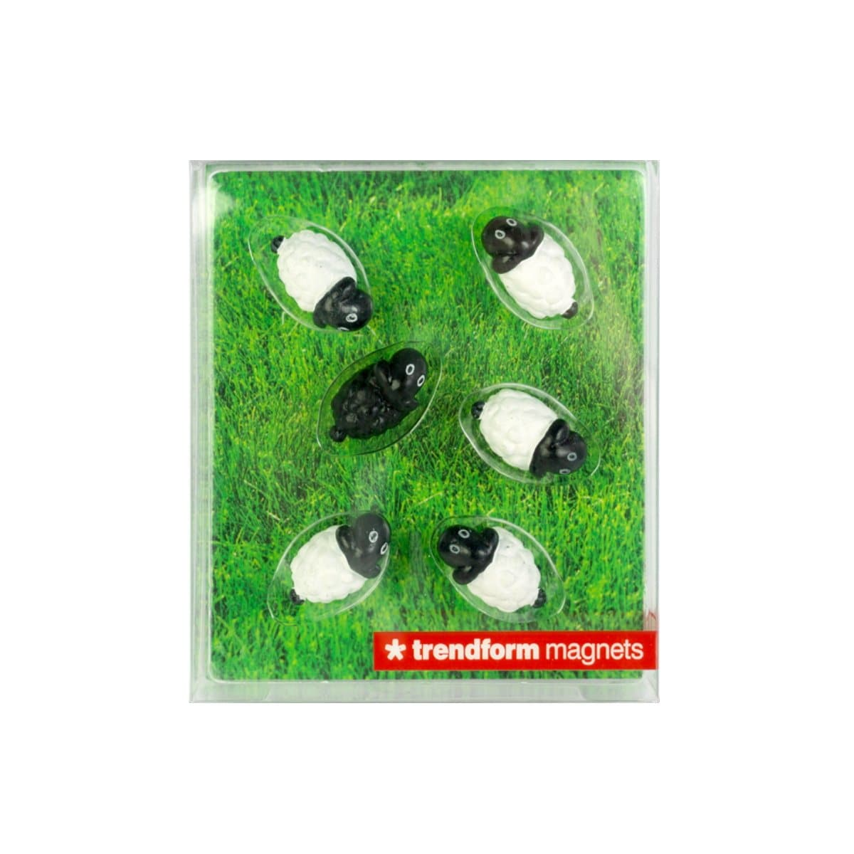 Trendform Magnets SHEEP, Set of 6, White/Black