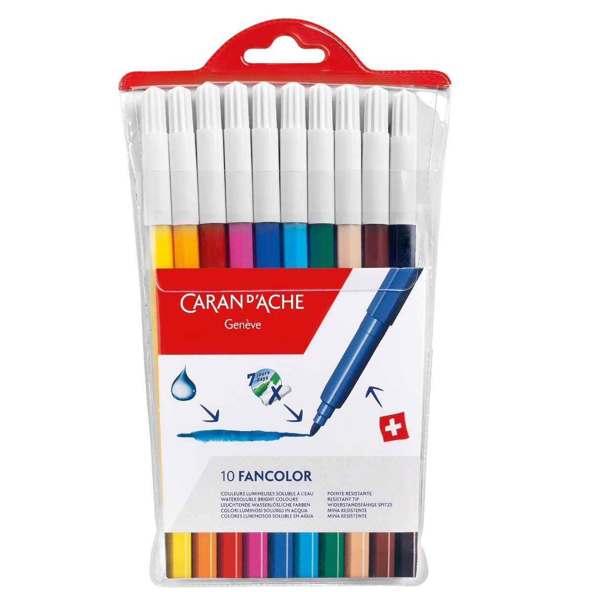 CARAN d'ACHE FANCOLOR Fibre-Tip Pen, medium, 10/pack