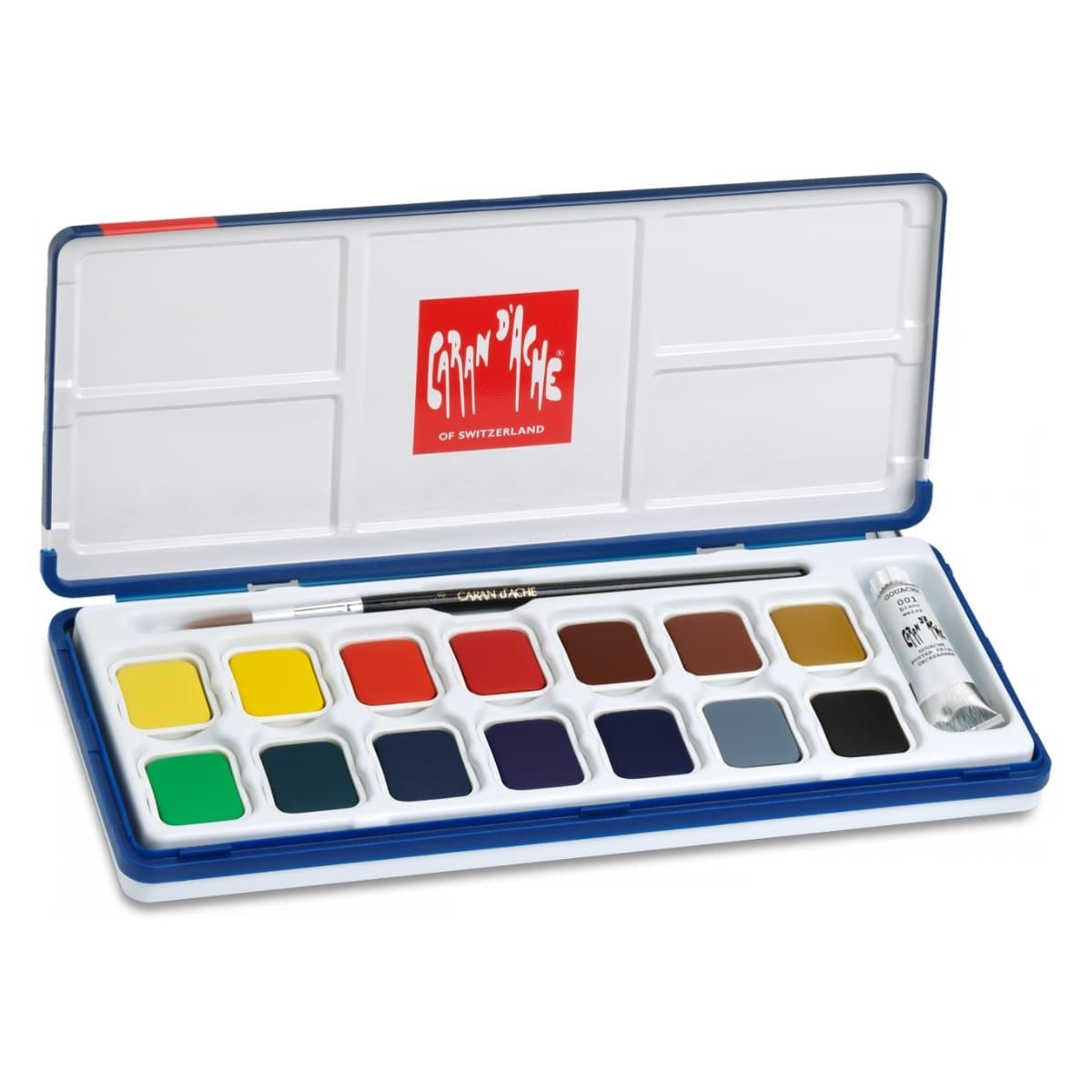 CARAN d'ACHE FANCOLOR Watercolors GOUACHE, 15 Colors