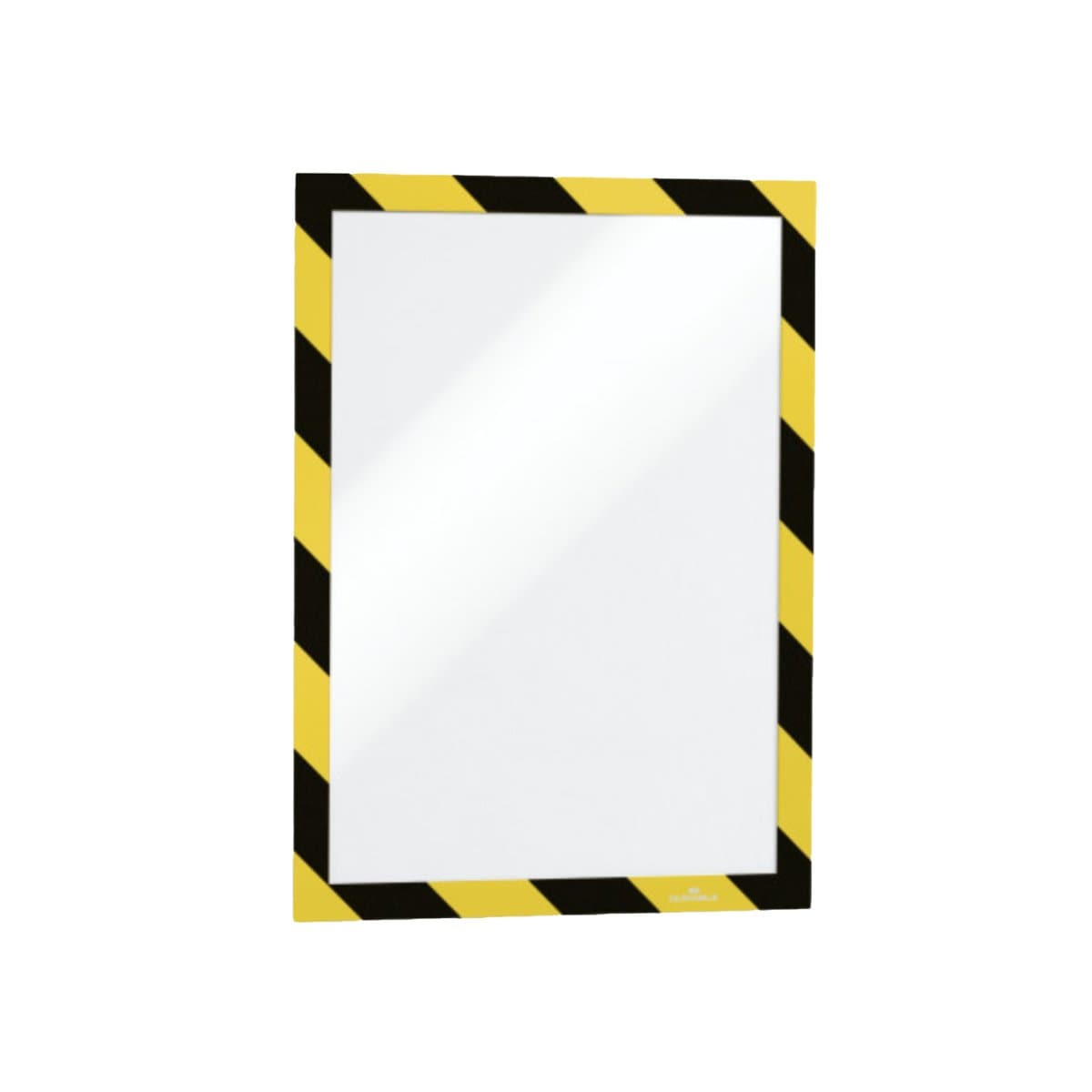 Durable DURAFRAME Security, Self-Adhesive Magnetic Frame A4, 2/pack, Black/Yellow
