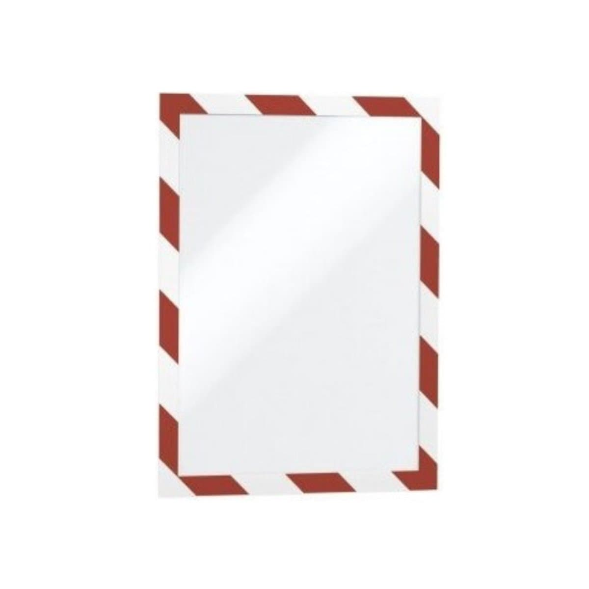 Durable DURAFRAME Security, Self-Adhesive Magnetic Frame A4, 2/pack, Red/White